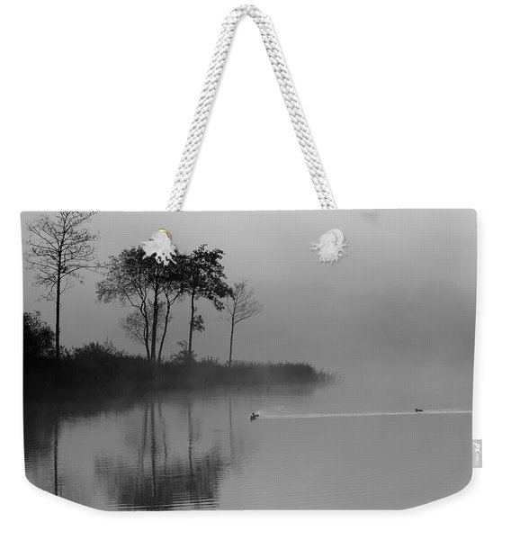 Loch Ard Trees In The Morning Mist Weekender Tote Bag