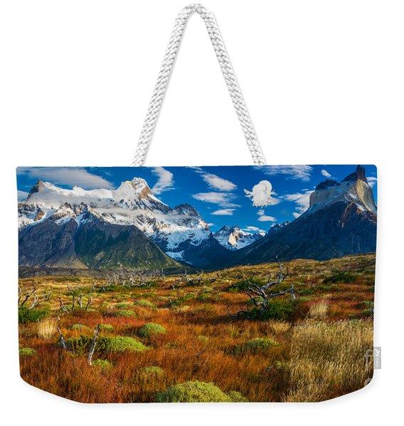 Los Cuernos Panorama Weekender Tote Bag