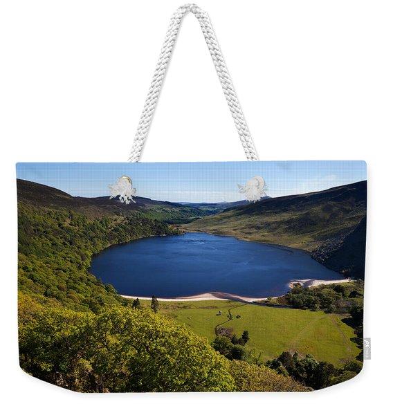 Lough Tay Below Luggala Mountain Weekender Tote Bag