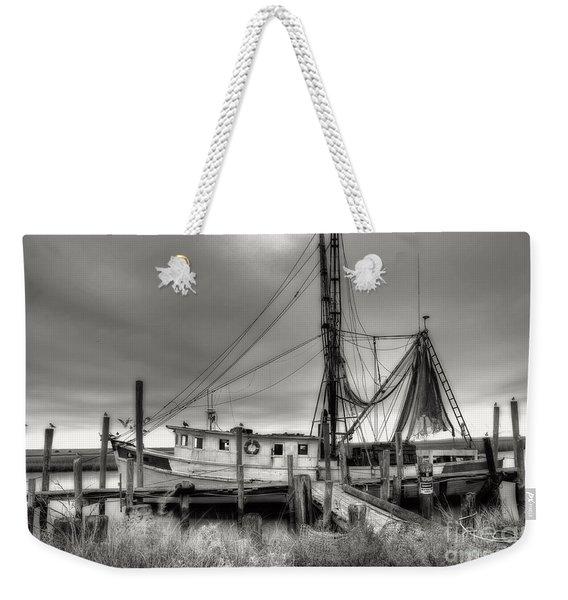 Lowcountry Shrimp Boat Weekender Tote Bag