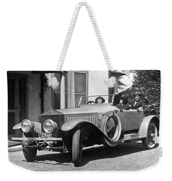 Mabel Normand In A Rolls Royce Weekender Tote Bag