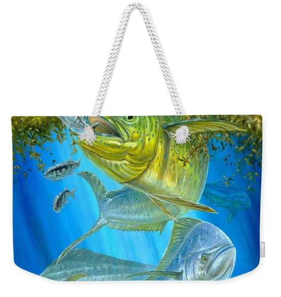 Mahi Mahi Hunting In Sargassum Weekender Tote Bag