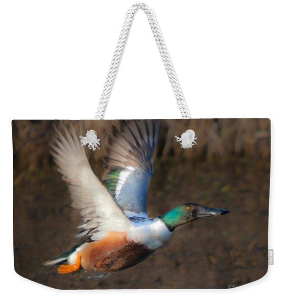 Male Northern Shoveler Weekender Tote Bag