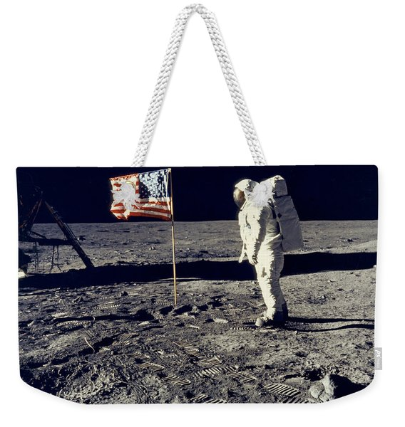 Man On The Moon Weekender Tote Bag
