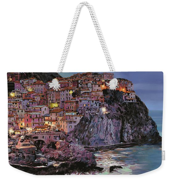 Manarola At Dusk Weekender Tote Bag