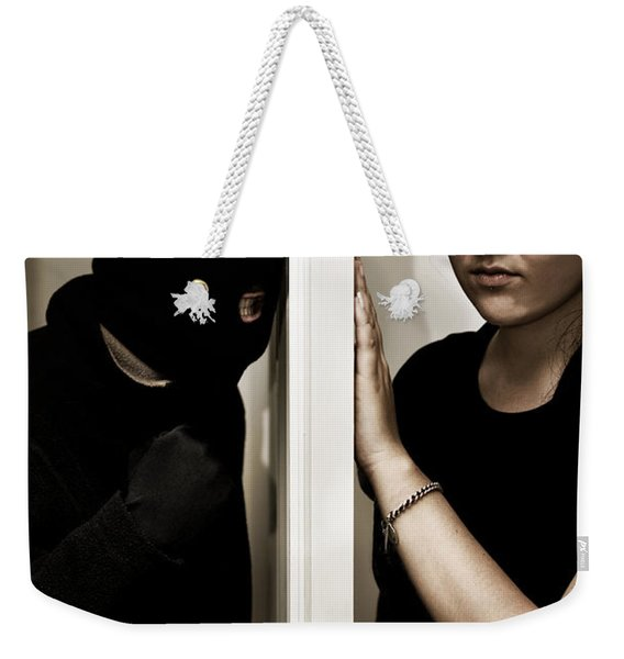 Masked Intruder Weekender Tote Bag