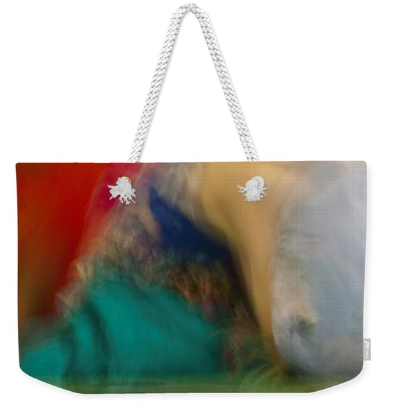 Weekender Tote Bag featuring the photograph Mideastern Dancing by Catherine Sobredo