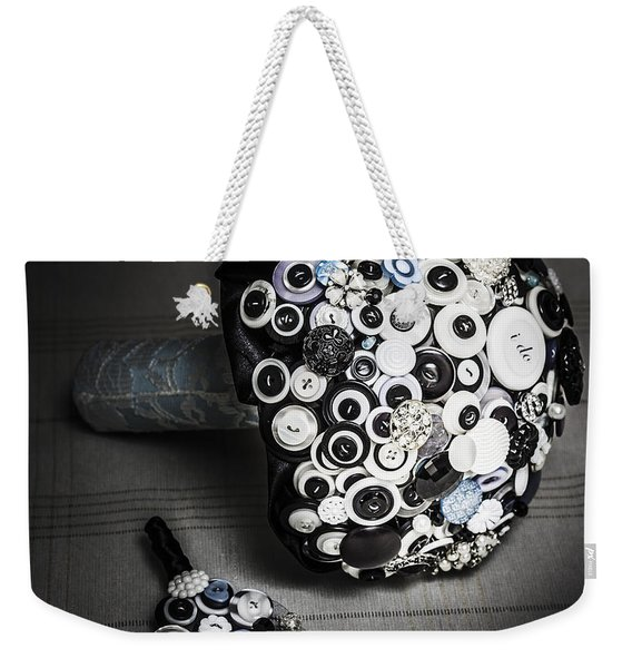 Modern Button Design Wedding Bouquet Weekender Tote Bag