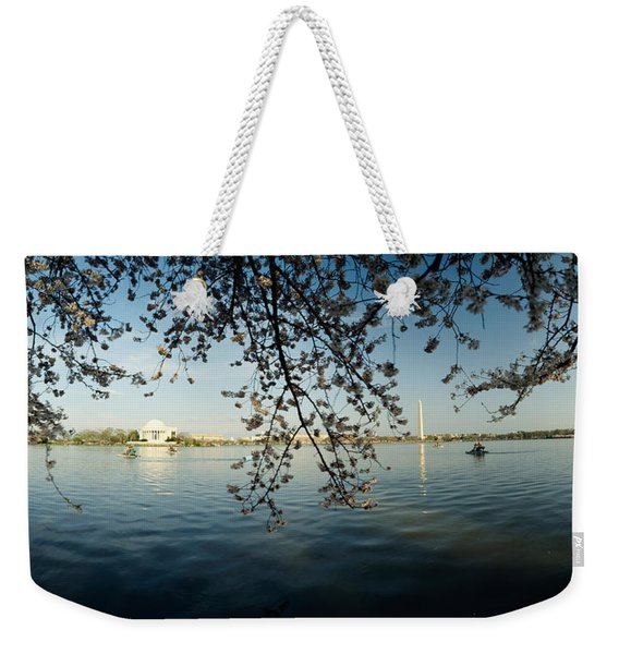 Monument At The Waterfront, Jefferson Weekender Tote Bag