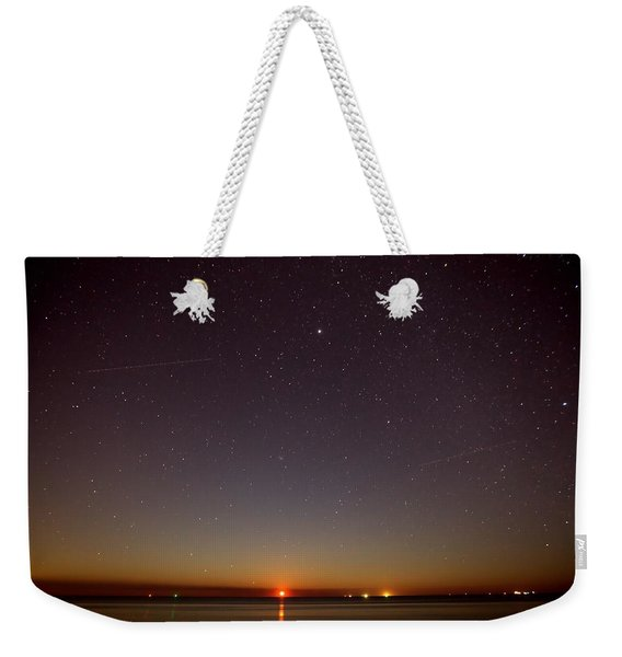 Moonrise On Tybee Island Weekender Tote Bag