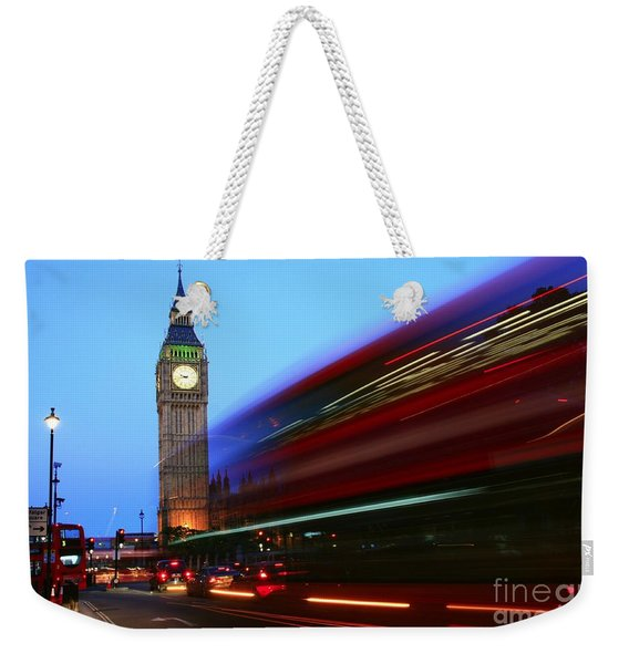 Weekender Tote Bag featuring the photograph Must Be London by Jeremy Hayden