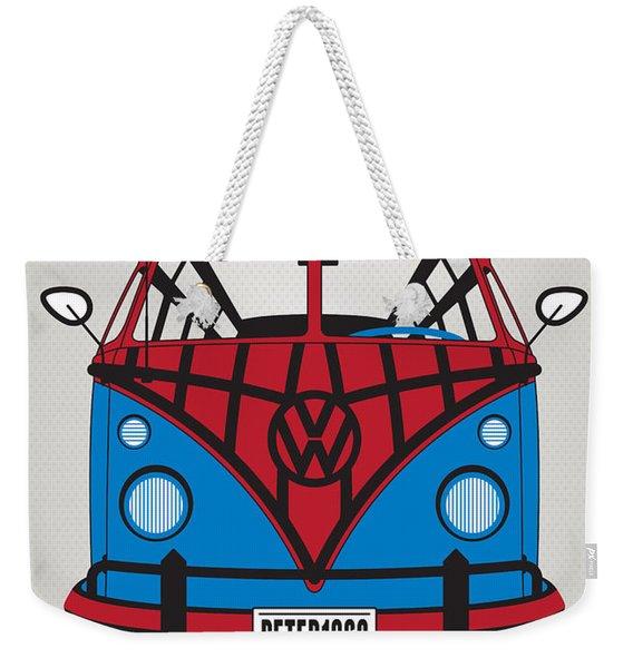 My Superhero-vw-t1-spiderman Weekender Tote Bag