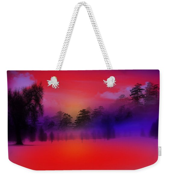 Nature Composition In Blue Weekender Tote Bag