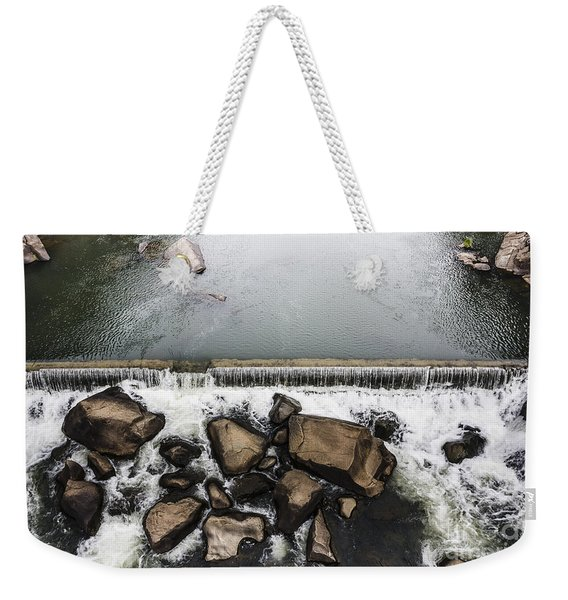 Nature Photograph Of Running Water Steam Weekender Tote Bag