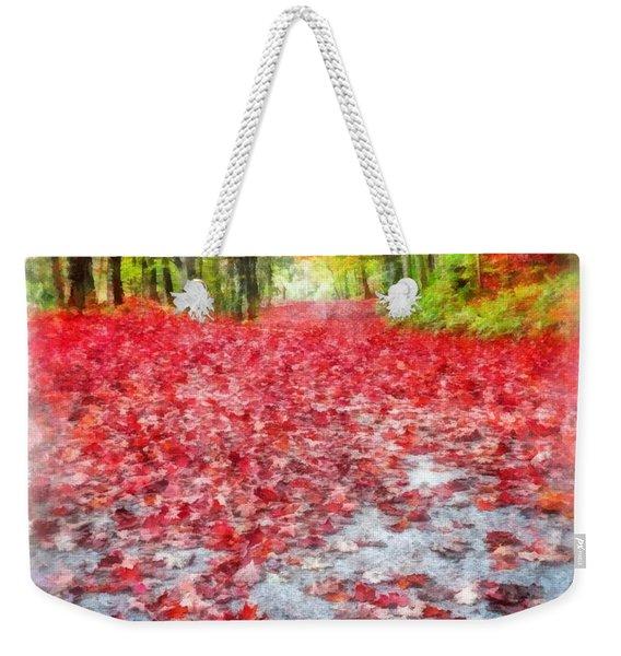 Nature's Red Carpet Watercolor Weekender Tote Bag