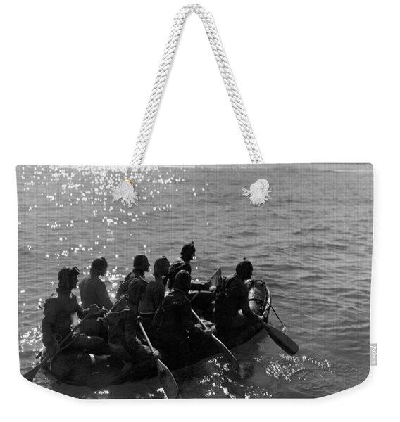 Navy Frogmen At Work Weekender Tote Bag