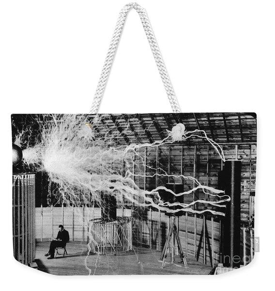Nikola Tesla Serbian-american Inventor Weekender Tote Bag