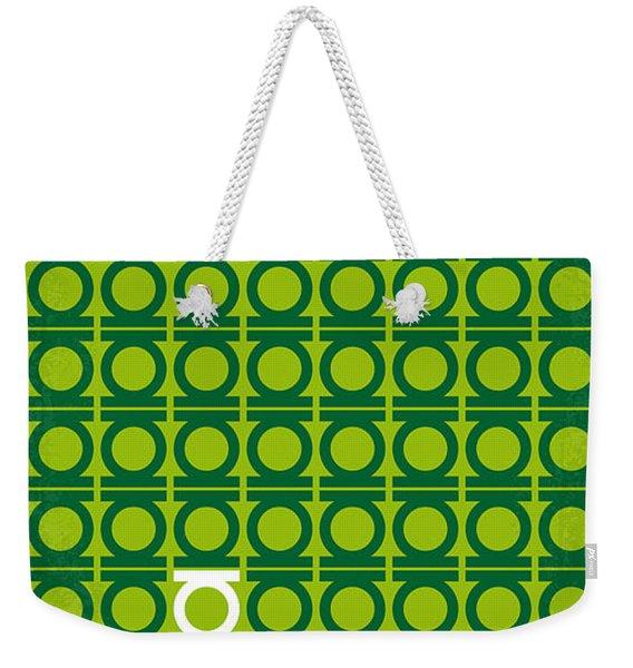 No120 My Green Lantern Minimal Movie Poster Weekender Tote Bag