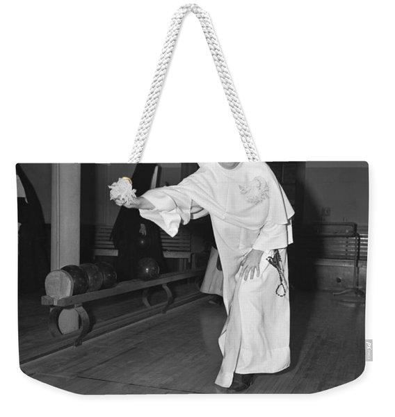 Nuns Bowling Weekender Tote Bag