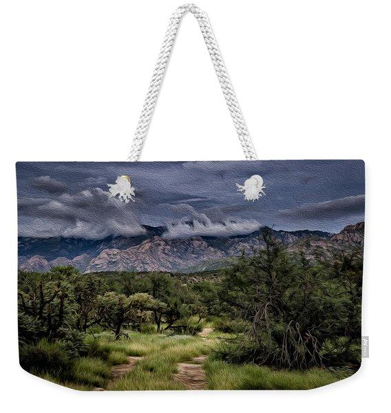 Odyssey Into Clouds Oil Weekender Tote Bag