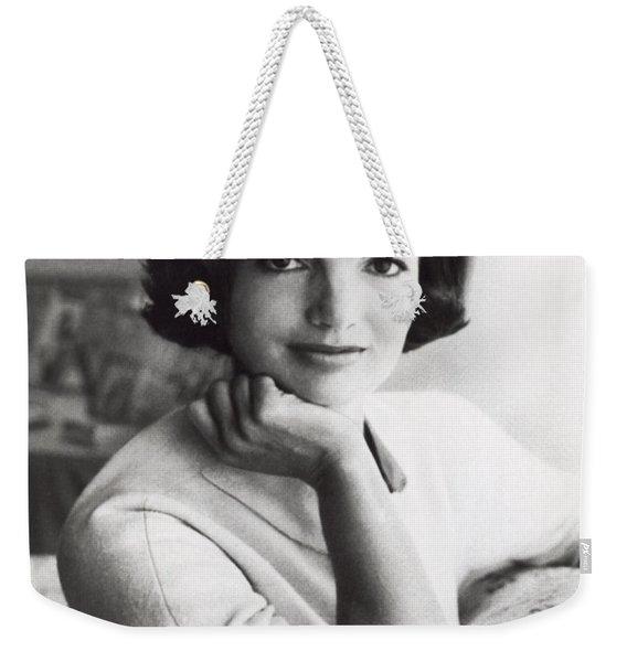 Official Photograph Of Jackie Weekender Tote Bag