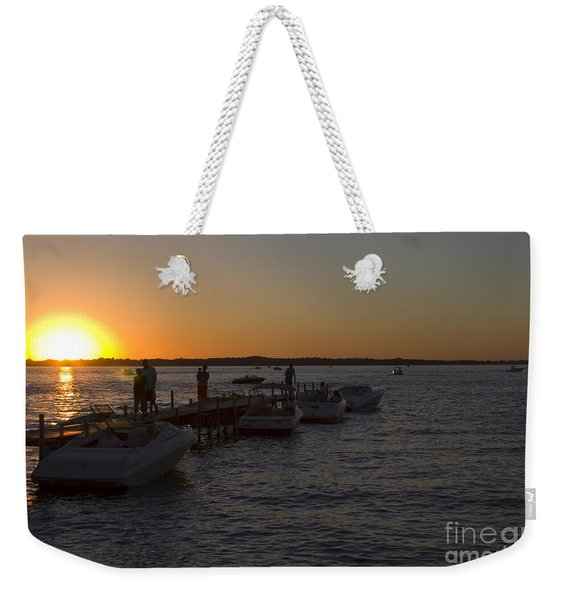 Okoboji Nights Weekender Tote Bag