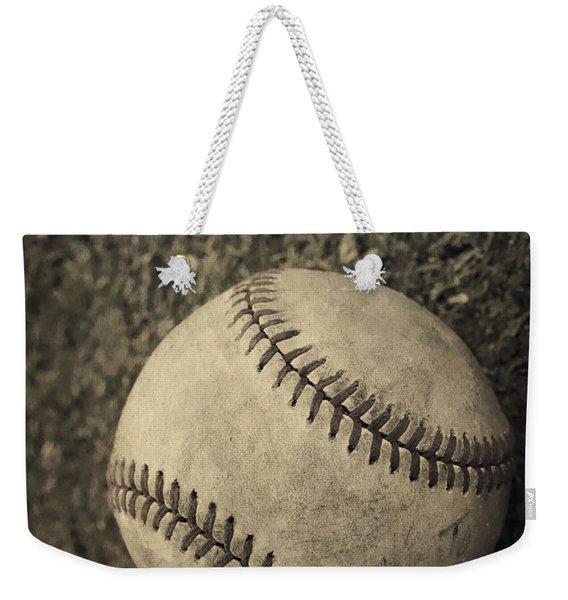 Old Baseball Weekender Tote Bag