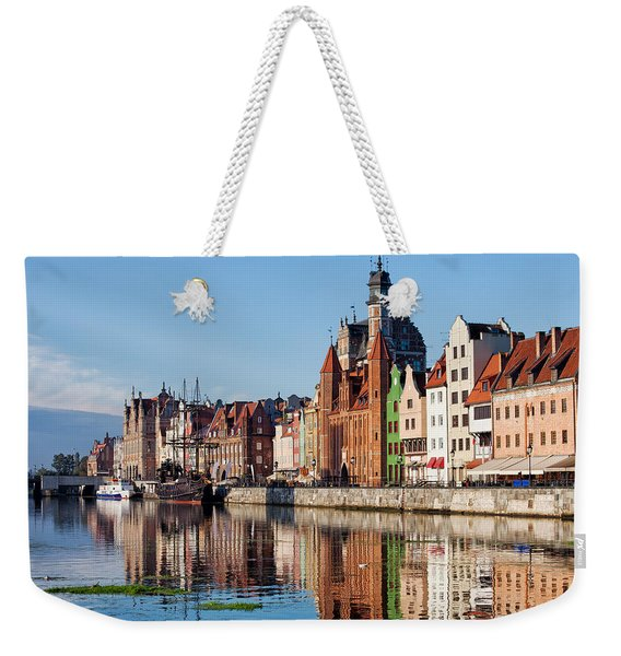 Old Town Of Gdansk In Poland Weekender Tote Bag