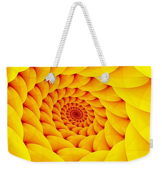 Yellow Pillow Vortex Weekender Tote Bag