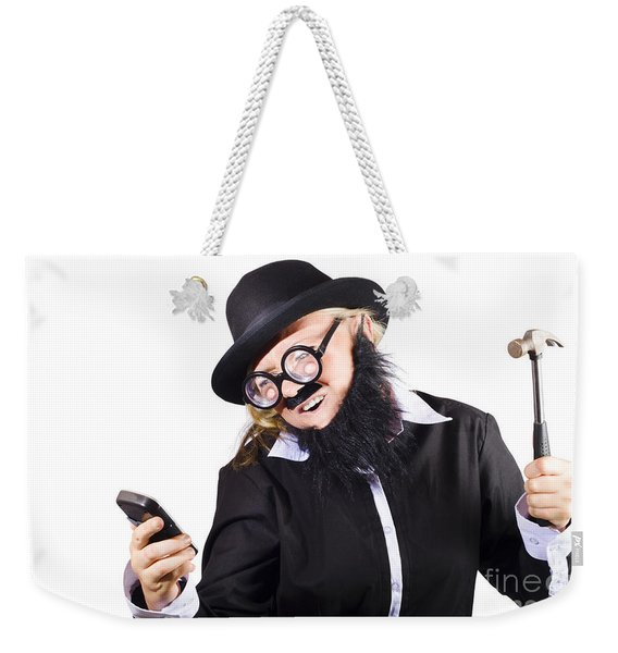 Out Of Service Mobile Telephone Weekender Tote Bag