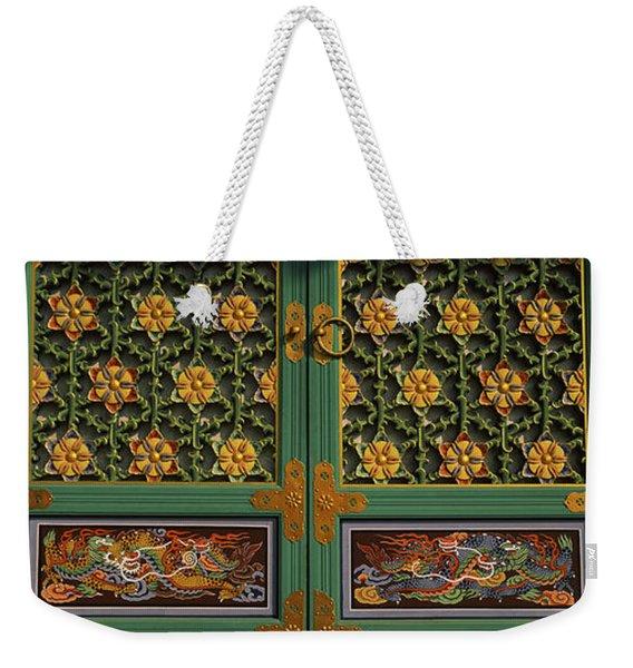 Paintings On The Door Of A Buddhist Weekender Tote Bag