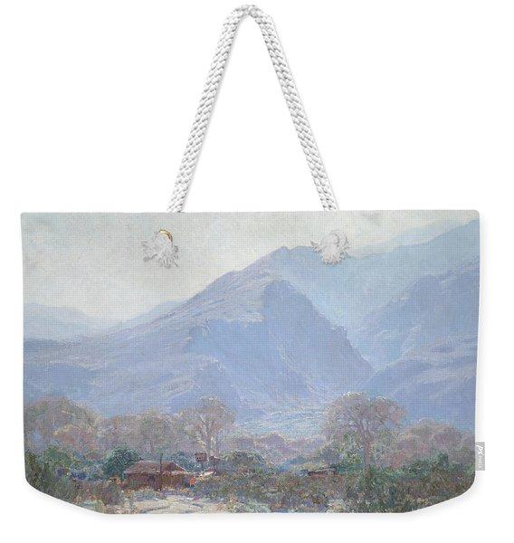 Palm Springs Landscape With Shack Weekender Tote Bag