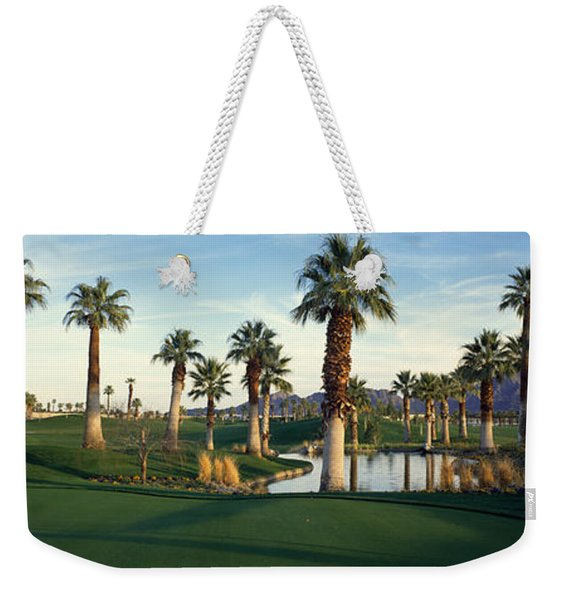 Palm Trees In A Golf Course, Desert Weekender Tote Bag