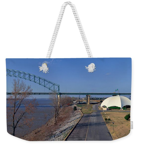 Panoramic View Of Mississippi River Weekender Tote Bag