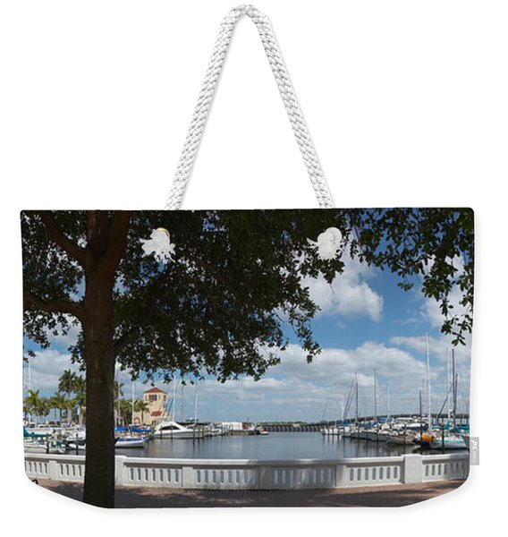 Park At The Riverside, Twin Dolphin Weekender Tote Bag