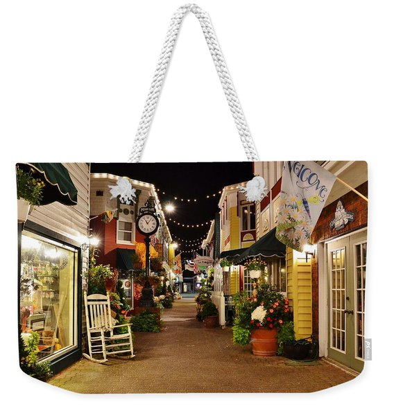 Weekender Tote Bag featuring the photograph Penny Lane - Rehoboth Beach Delaware by Kim Bemis