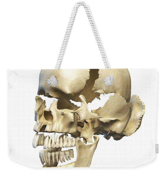 Perspective View Of Human Skull Weekender Tote Bag
