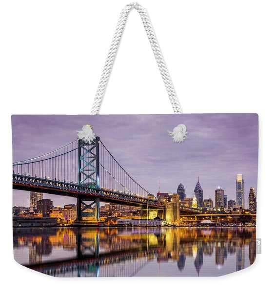 Weekender Tote Bag featuring the photograph Philly by Mihai Andritoiu