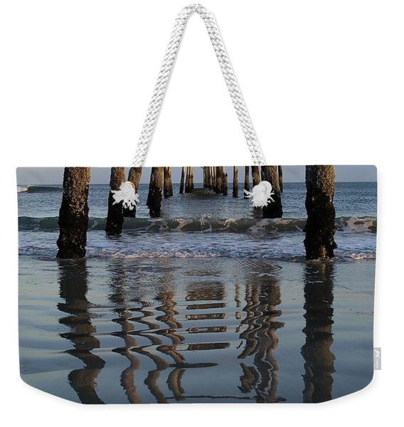 Pier Reflections Weekender Tote Bag