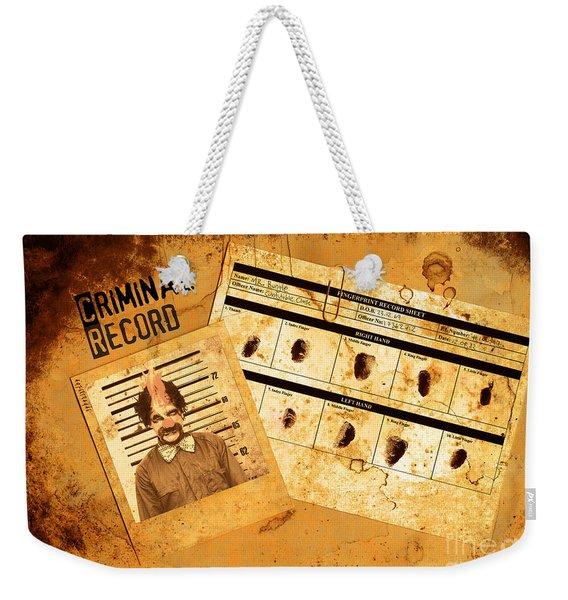 Police Criminal Record File Weekender Tote Bag