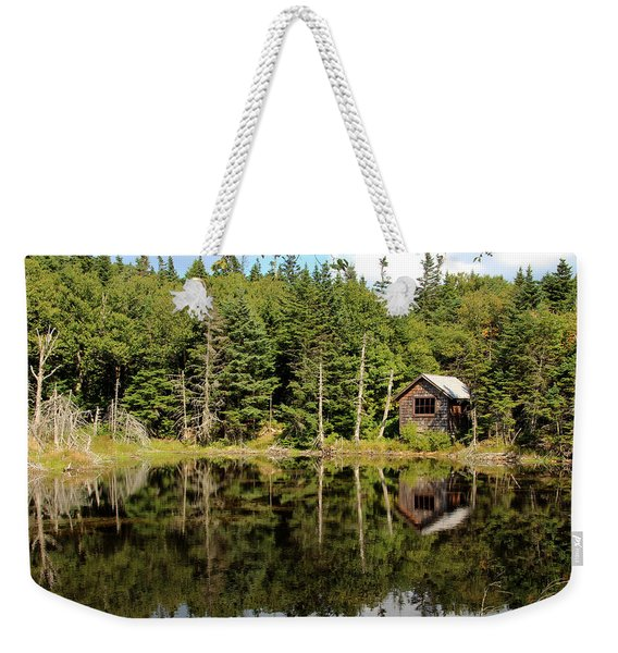 Weekender Tote Bag featuring the photograph Pond Along The At by Jemmy Archer