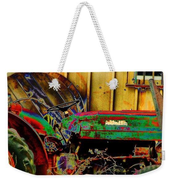 Pop Art Tractor Trash Weekender Tote Bag