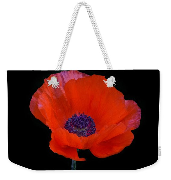 Weekender Tote Bag featuring the photograph Poppy  by Garvin Hunter