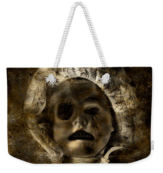 Porcelain Doll Crying Tears Of Cracks Weekender Tote Bag