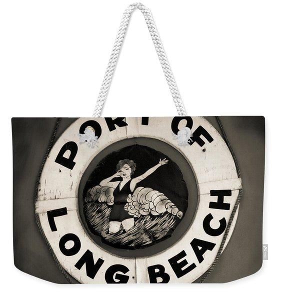 Port Of Long Beach Life Saver Vin By Denise Dube Weekender Tote Bag