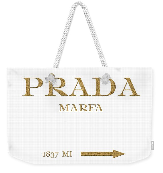 Prada Marfa Mileage Distance Weekender Tote Bag