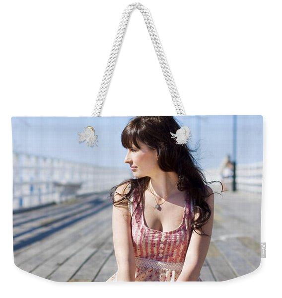 Pretty Pier Woman Weekender Tote Bag