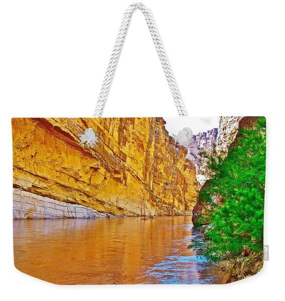 Rafting In Santa Elena Canyon In Big Bend National Park-texas Weekender Tote Bag