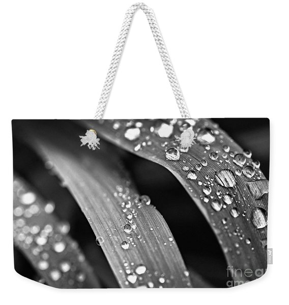 Raindrops On Grass Blades Weekender Tote Bag