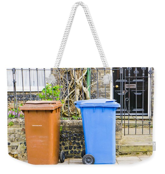 Recycling Bins Weekender Tote Bag